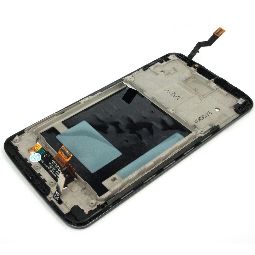 Generic Full Panel Lcd Display Touch Digitizer Glass W/ Bezel Frame Compatible For LG Optimus G2 D802 D805 Black Global V