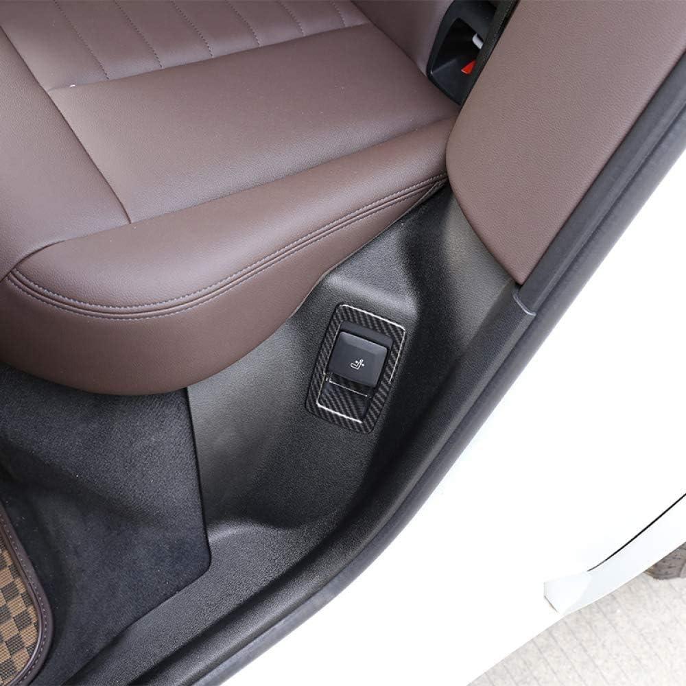 ZNZZJ For BMW X3 G01 2018 2019 Carbon Fiber style Car Accessories ABS Chrome Seat Adjustment Decorative Frame Trim