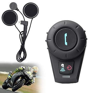 Auriculares De Intercomunicación Del Casco De La Motocicleta Auriculares Bluetooth Inalámbricos Deportes Auriculares De Intercomunicación Estéreo