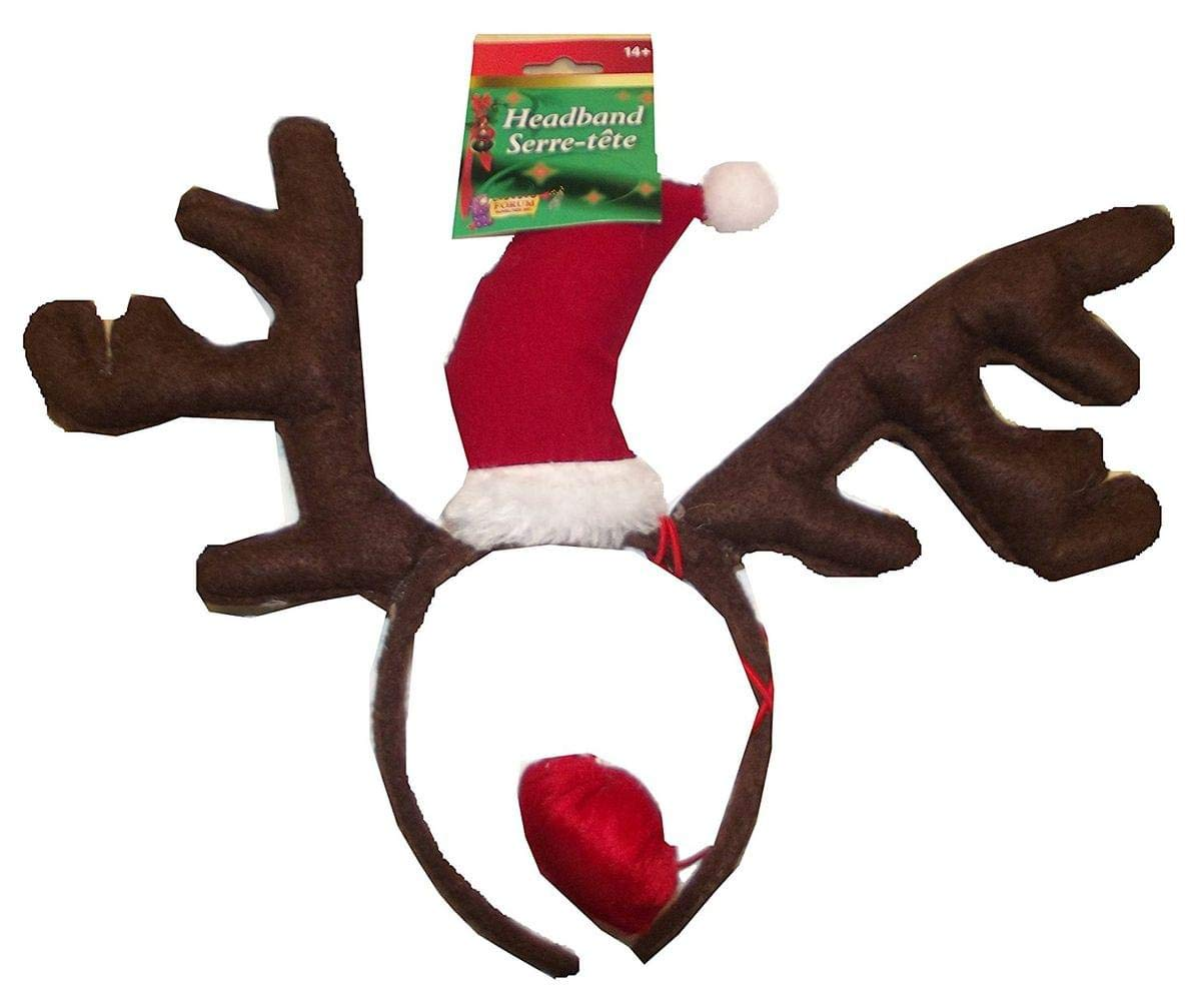 Christmas Reindeer Antler Headband with Nose Forum Novelties 77575