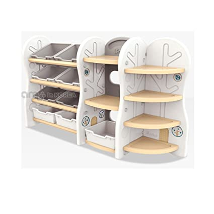 IFam Self Design Cabinet Children Kids Baby Toy Organizer Storage Basket Bookshelf Corner Shelf