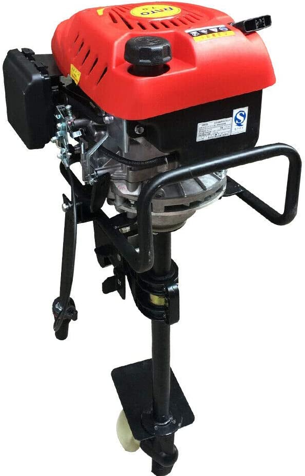 EWANYO 6HP Outboard Motor 4 Stroke Heavy Duty Outboard Motor Boat Engine w/Air Cooling System