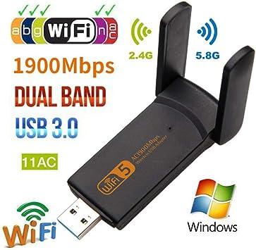 WiFi Adapter 1900M Dongle USB3.0 Adapter AC1900 4*6dBi 2.4//5Ghz Wireless