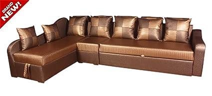 Awe Inspiring Hexagon Furnitures Modern L Shape Sofa Cum Bed Amazon In Inzonedesignstudio Interior Chair Design Inzonedesignstudiocom