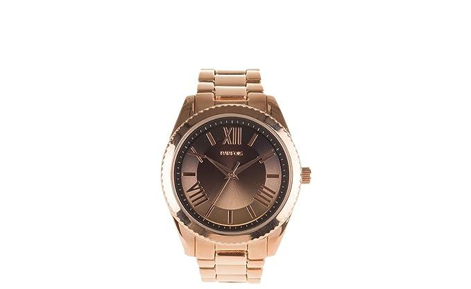 Parfois - Reloj Redondo Rose Gold - Mujeres - Tallas M - Dorado: Amazon.es: Relojes