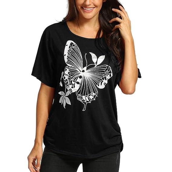 LHWY-VEST-WOMEN Camiseta Hombro Caido Atractivo Mujer LHWY, Blusa con Estampado Manga