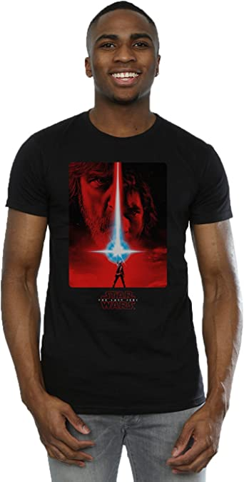 Star Wars Hombre The Last Jedi Red Poster Camiseta: Amazon.es: Ropa y accesorios