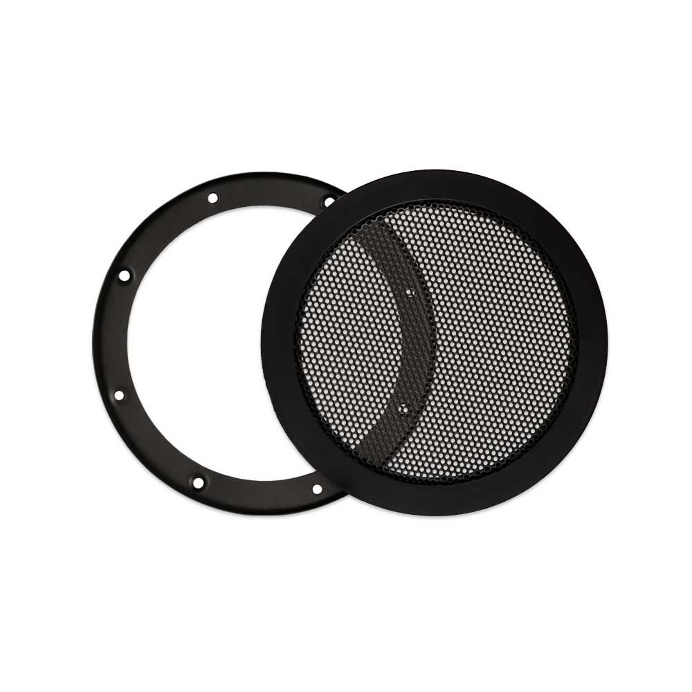 Goldwood Snap On 5.25'' Subwoofer Grille Steel Mesh Speaker Woofer Grill Black (SG-M5)
