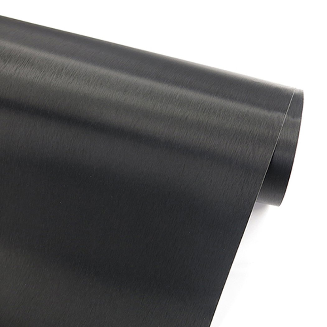 Faux Black Brushed Metal Stainless Steel Contact Paper Self Adhesive Vinyl Shelf Drawer Liner for Refrigerators Dishwashers Appliance Etc (19.6''Wx78.6''L)