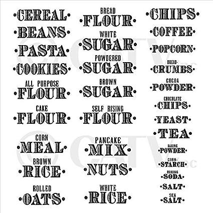 Tea Coffee Sugar Personalised Stickers Vinyl Decal Set of 3 stickers