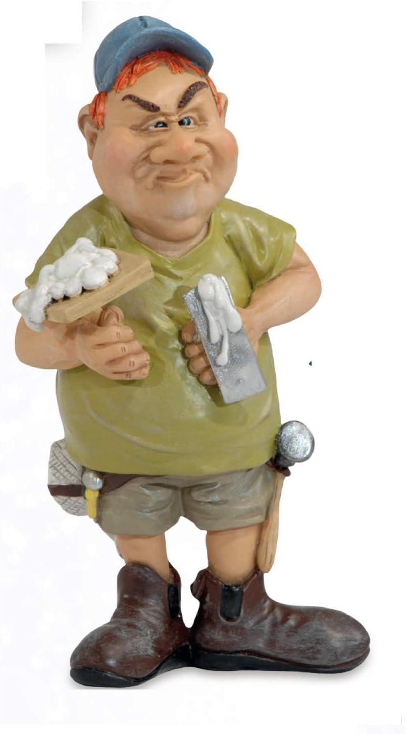 Les Alpes Orig 014 99691 Collezione Funny World Mestieri Artigiani 16cm Figura Barbiere Statuina Figurina Dipinta a Mano in Resina Sintetica
