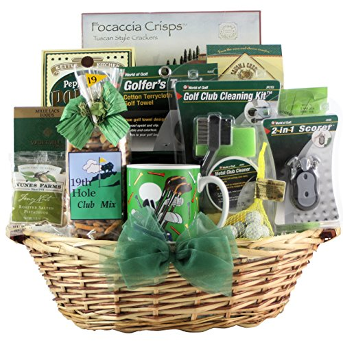 GreatArrivals Golfer's Delight Father's Day Golf Gift Basket, 6 (Greatarrivals Fathers Day)