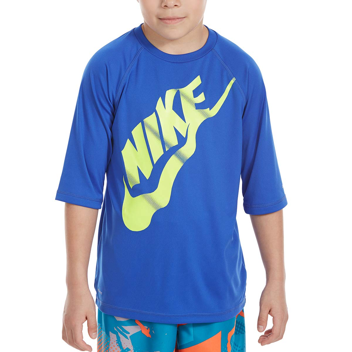 Nike Big Boys Solid Half-Sleeve HYDROGUARD Rash Guard TOP