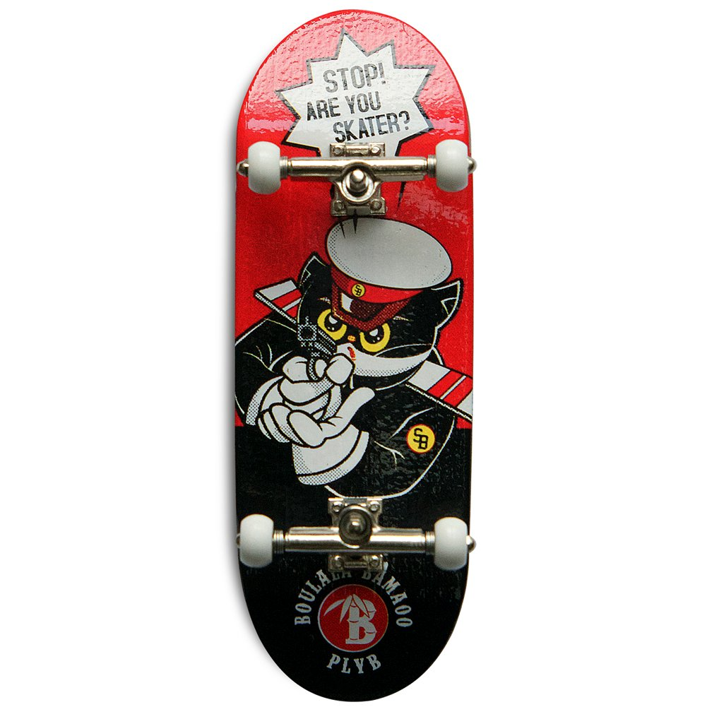 SOLDIERBAR Fan Team 9.0 Bamboo Finger Skateboards (Deck,Truck,Wheel Set for PRO) (Mr.Black) by SOLDIERBAR (Image #1)