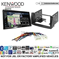 Volunteer Audio Kenwood DNX574S Double Din Radio Install Kit with GPS Navigation Apple CarPlay Android Auto Fits 2003-2008 Non Amplified Toyota Corolla