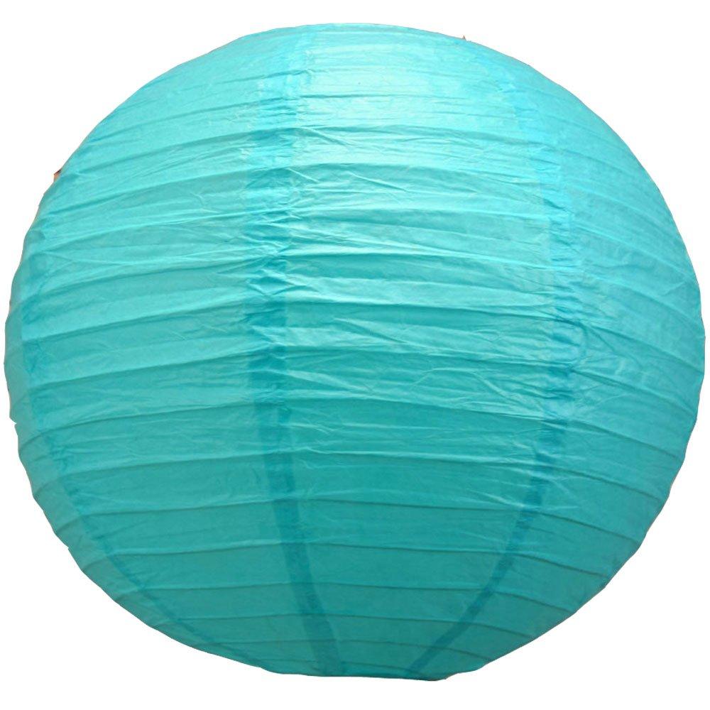 球体ペーパーランタン うね織り模様 ぶらさげるのに(電球は別売り) 42 Inch (6 Pack) ブルー 42EVP-TU6 6 B01C7U6KEK 42 Inch (6 Pack)|ターコイズ ターコイズ 42 Inch (6 Pack)