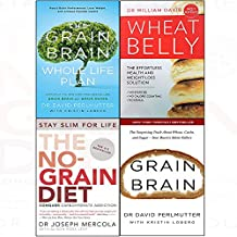 Grain brain whole life plan, wheat belly, no-grain diet, grain brain 4 books collection set