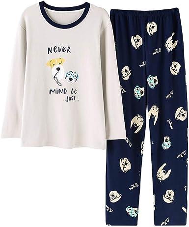 Meaeo Conjuntos De Pijama De Parejas De Manga Larga Amantes ...