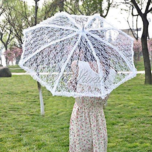 XENO-Lace Umbrella Weding Party Bridal Flower Girls Parasol Handmade Battenburg - San Tan Ford