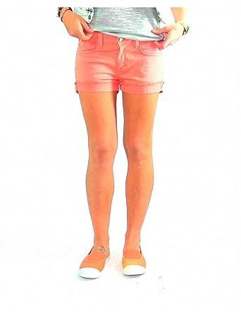7ceceb52099c33 Le temps des cerises - Short femme JUNO corail: Amazon.fr: Vêtements ...