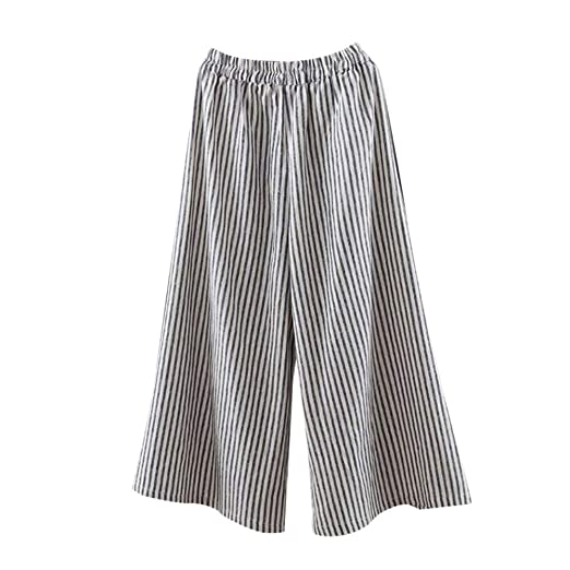 330e59553ee7 Image Unavailable. Image not available for. Color  UOFOCO Women s Plus Size  Stripe Harem Pants Oversize Casual Loose Wide Legs Trousers
