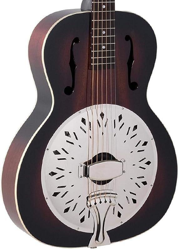 Recording King RR-41-VS Rattlesnake Wood Body Resonator Guitar