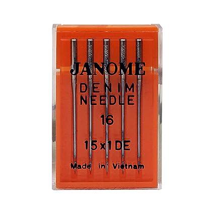 Amazon Janome Sewing Machine Needle Denim Size 40 New What Size Sewing Machine Needle For Denim