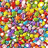 100pcs MultiColour Mini 9x12mm Self Adhesive Wooden Ladybird Ladybugs Craft Card Wood Toppers by Wedding Touches