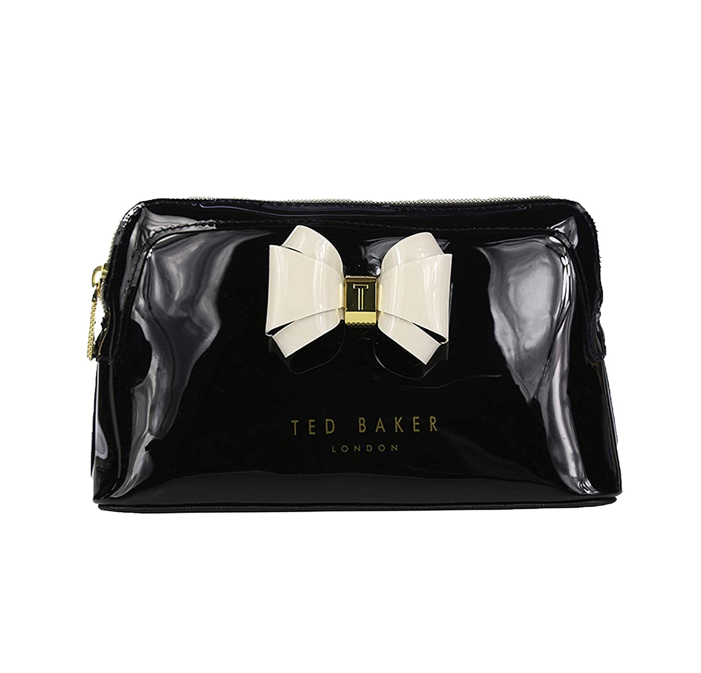 Ted Baker Logo Make-Up Bag, Cosmetics Bag, Toiletry Bag 'Aimee' Size Small (Black)