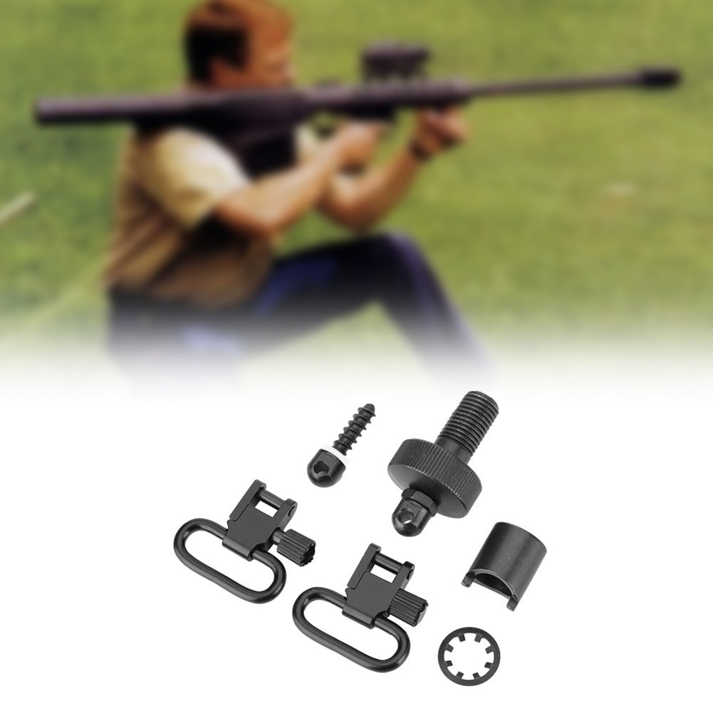 Filfeel Black High Strength Quick Detachable Sling Swivels for Mossberg 500 12-Gauge by Filfeel