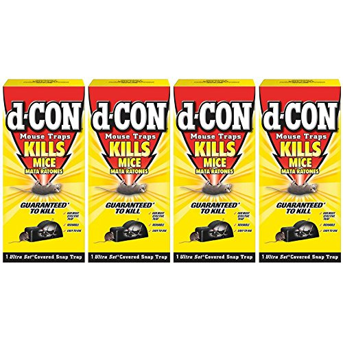 Mouse D-con Traps - d-CON Reusable Covered Mouse Snap Trap, 1 Trap (Pack of 4)