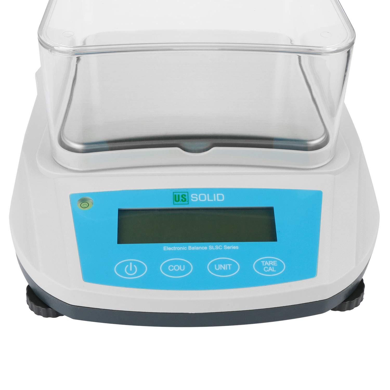 U.S Solid Balanza de Precision Pesaje de Laboratorio RS232 Interface 1000g, 0,01g