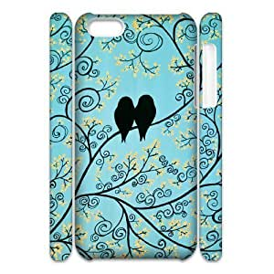 linJUN FENGCool Painting LoveBirds Custom 3D Cover Case for ipod touch 5,diy phone case case623138