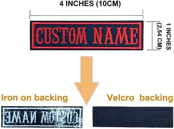 Brillianne Giubbotto Moto Personalizzato Nome Patch Ricamo Personalizzato Testo 2 pz 4x1  Badge Tag Etichetta