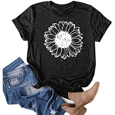Women Way Maker Miracle Worker Promise Keeper Letter Print Tops Short Sleeve Dandelion Graphic Tee T-Shirt: Clothing