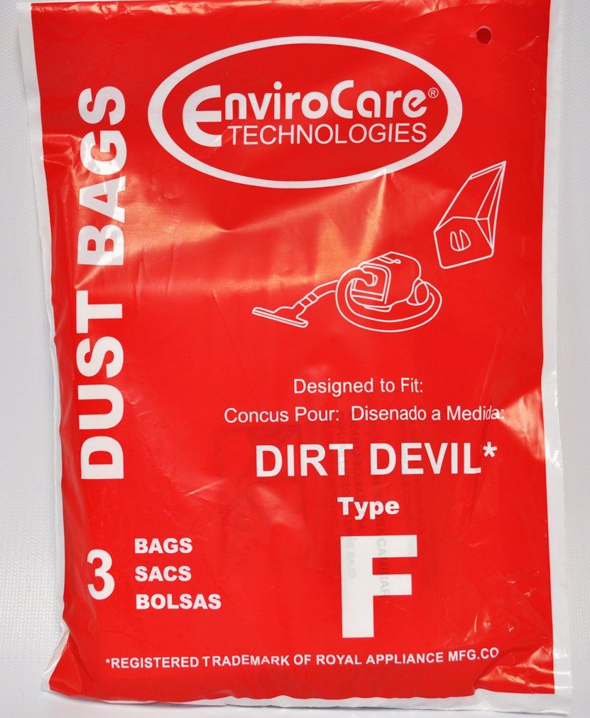 ロイヤルDirt DevilタイプF Canister Vacバッグ、3パック   B00NLKOIOU