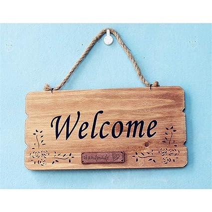 Signe de Bienvenue Bois Bienvenue Rustique Bienvenue Panneau ...