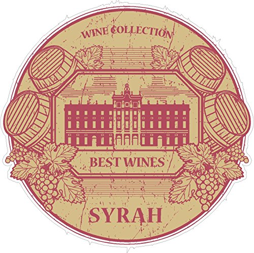 Syrah Collection (Oval wine collection syrah 4x4 inches red grape vrmorel equality drink free 'merica military funny humor america united states color sticker state decal vinyl - Made and Shipped in USA)