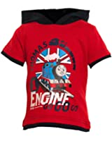 Boys Thomas The Tank Engine Hooded T-Shirt Size 1 / 2 Years