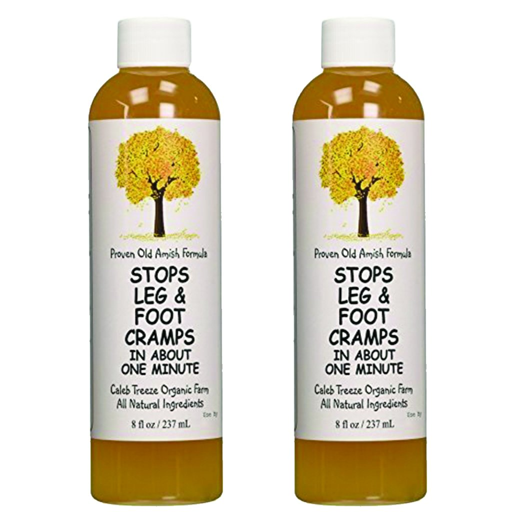 Caleb Treeze Organic Farms Stops Leg & Foot Cramps 8oz - Pack of 2 by Caleb Treeze