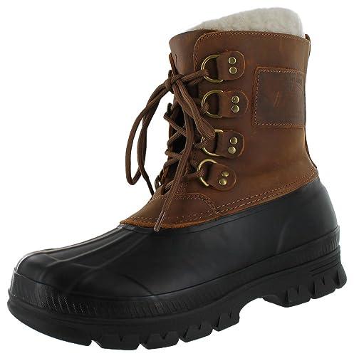 Polo Ralph Lauren Landen Men s Shearling Duck Boots Brown Size 11  Amazon.ca   Shoes   Handbags e8b1b8f3cedcb