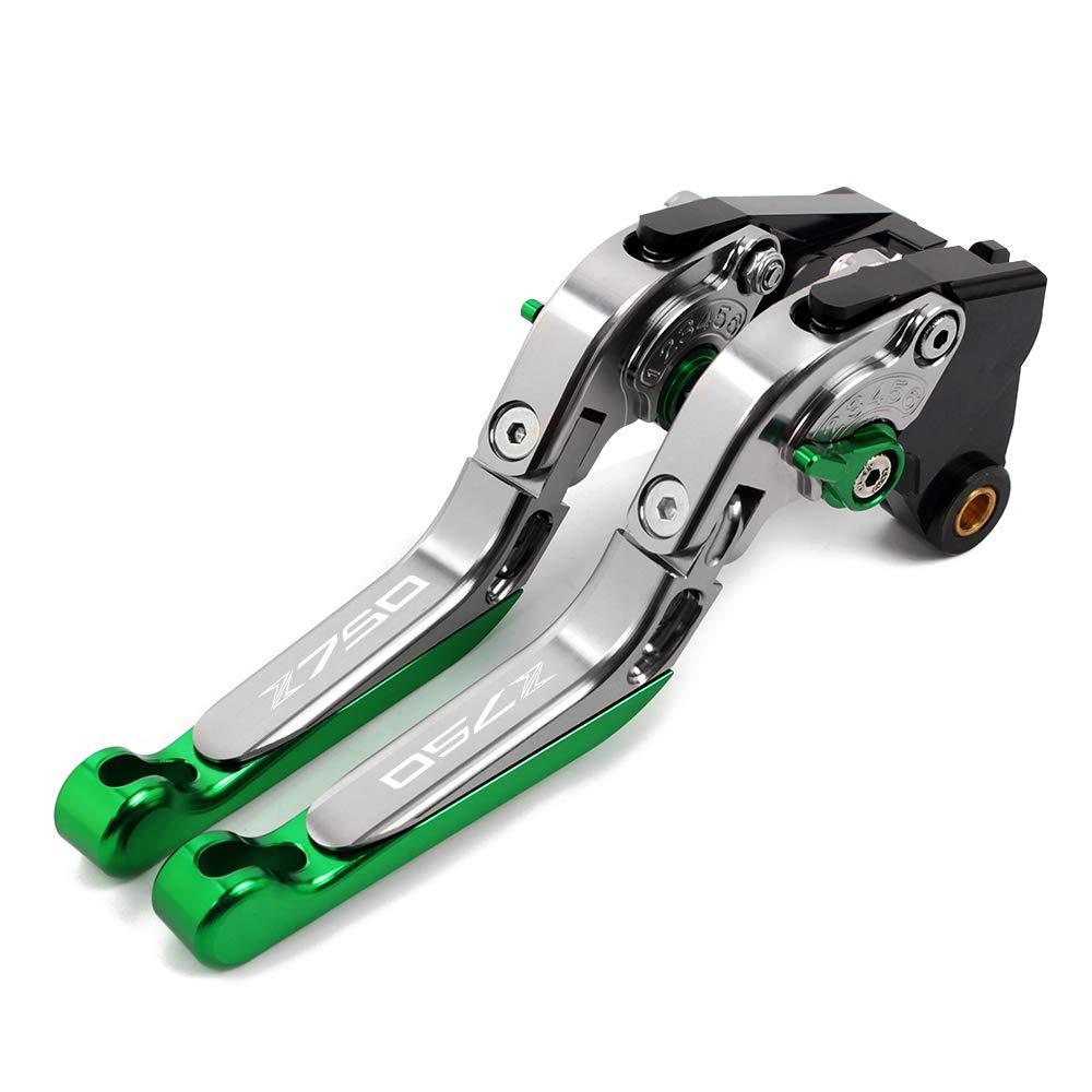 Motorrad CNC Bremshebel und Kupplungshebel Set Aluminiumblatt Bremskupplungshebel Verstellbar Faltbar Ausziehbar f/ür Kawasaki Z650 Z 650 2017 2018 2019