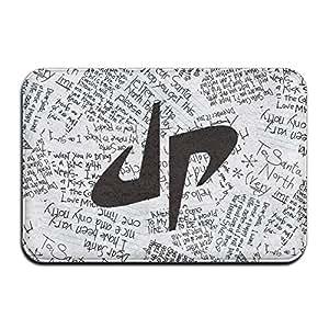 """opappi Dude ideal Logo impreso diseño antideslizante cuadrado Doormats alfombrillas, puerta delantera/baño mats (23.6x15.7, """"L x W)"""