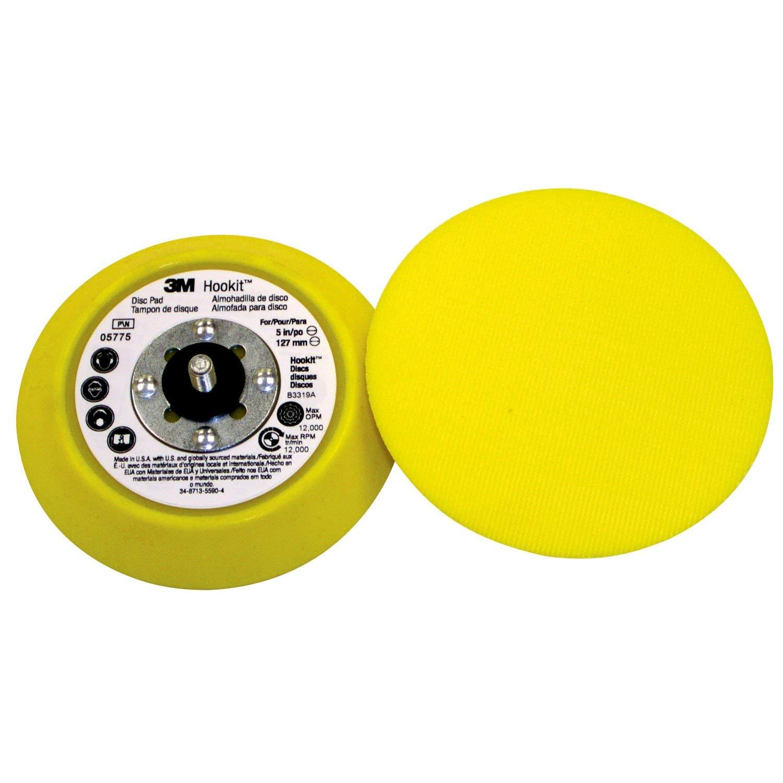 3M Hookit Plato Soporte 125mm, Sin agujeros, 5/16, 1/Caja