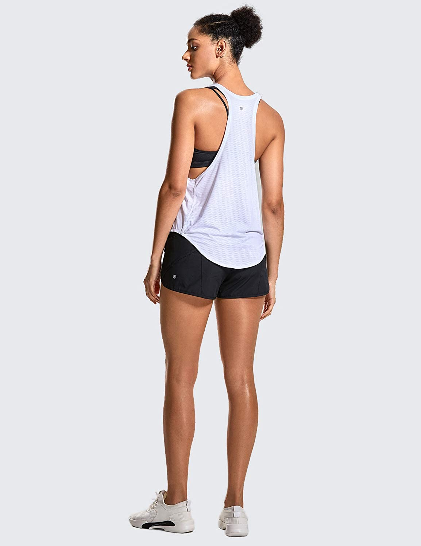 CRZ YOGA Damen Sport Tank Top Essential Ringerr/ücken Oberteil Laufen Fitness Funktions Shirt