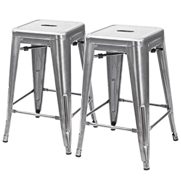 furmax high metal stools backless silver metal bar stools indoor outdoor use