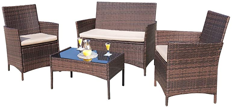 Garden Gear Love Seat Bistro Set Outdoor Patio Furniture Dining Table Chair NEW