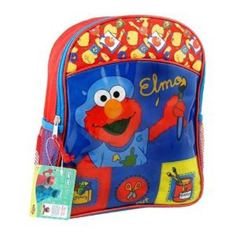 7d88a67724d0 Amazon.com  Elmos Sesame Street Kids Small Backpack School Book Bag Tote  Red Blue  Sports   Outdoors