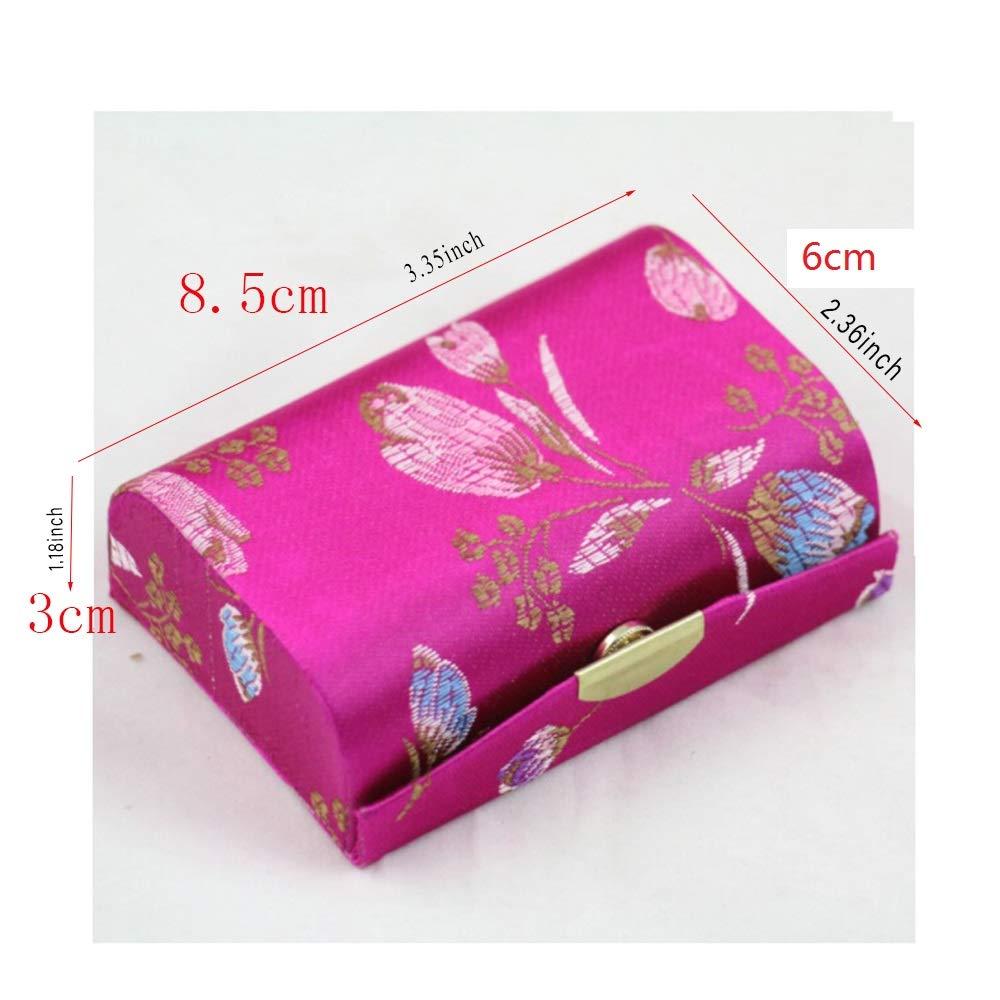 Amazon.com: Mini bolsa de viaje para maquillaje con espejo ...