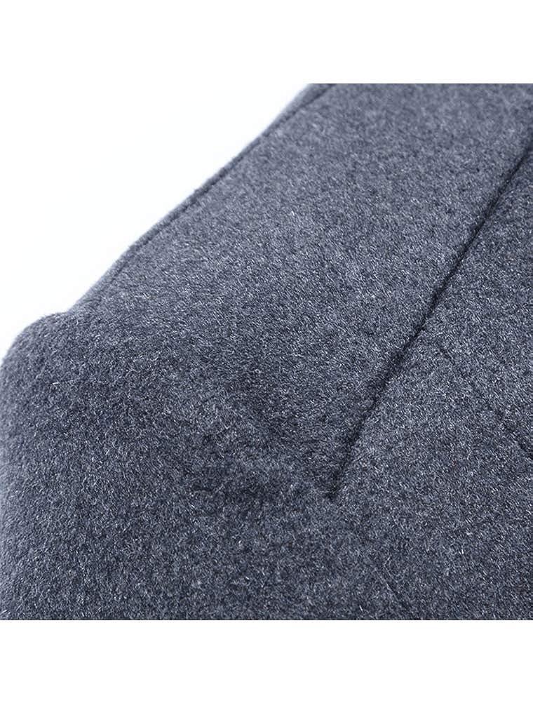 Mallimoda Uomo Cappotto Giacca Manica Lunga Slim Fit Caloroso Outwear Cappotti Invernale di Lana